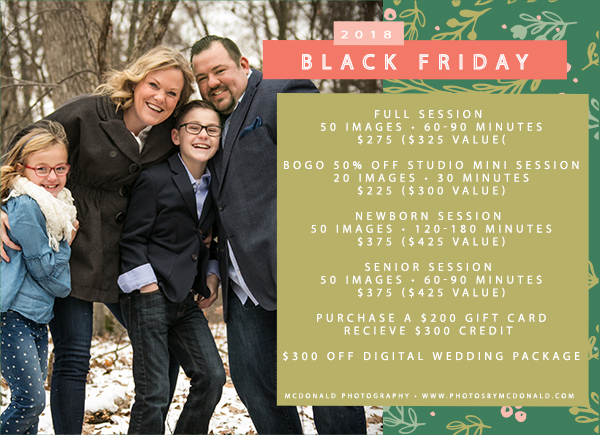 Black Friday 2018 Holly Michigan Photographer